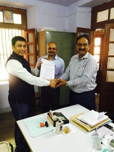 Contract signing with Dayal Bhag University Agra